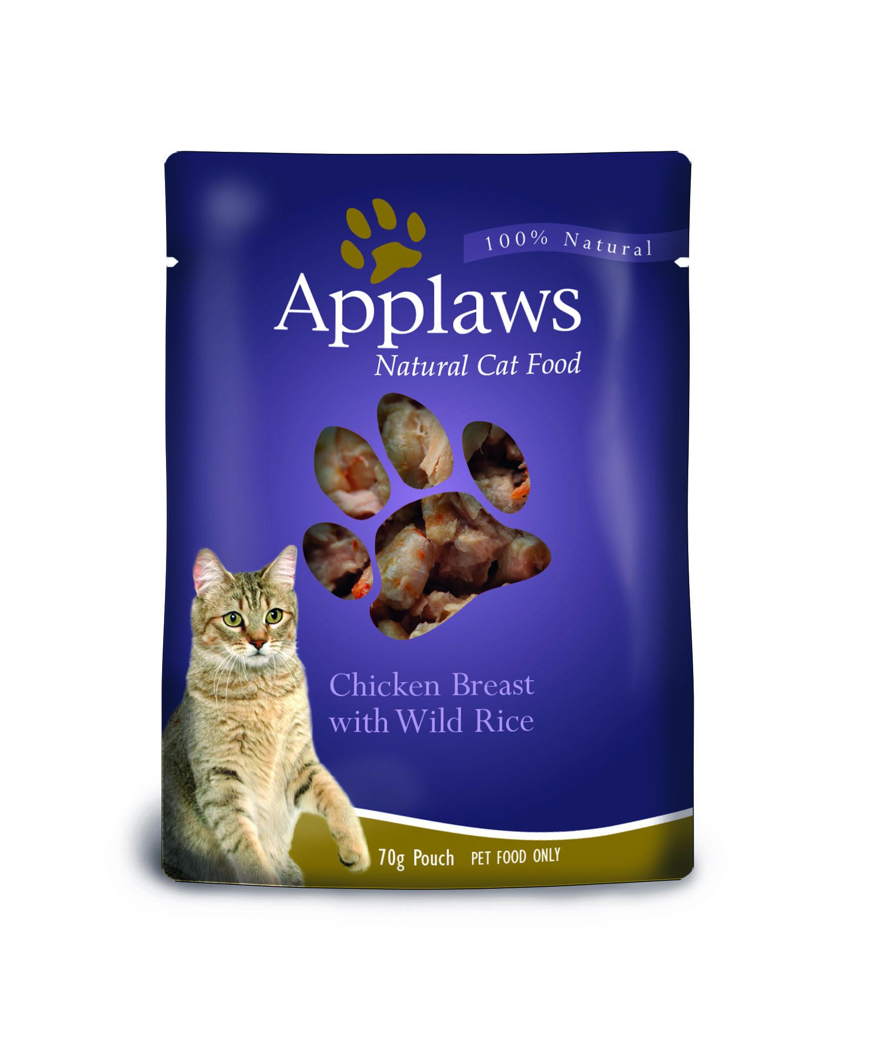 8007AU-AM Applaws Cat Pouch 70g Chicken Breast with Wild Rice HR